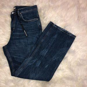 ZARA || NWT dark wash boyfriend jeans size 6